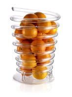 parisevetro - portafrutta molla di frutta vetro soffiato borosilicato fatto a mano