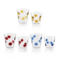 parisevetro - bicchiere pois vetro soffiato borosilicato fatto a mano